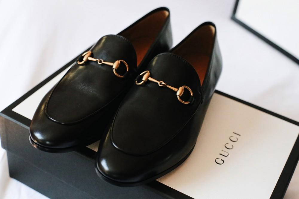 34faf0707b2 Gucci Jordaan leather horsebit loafer